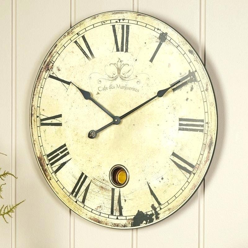 Alice 23 in. Oversized Yellow and Cream Wall Clock by