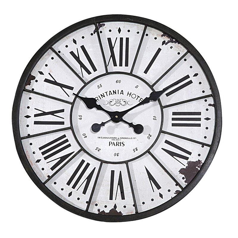 Calista Turn of The Century Style Oversized 24 Wall Clock