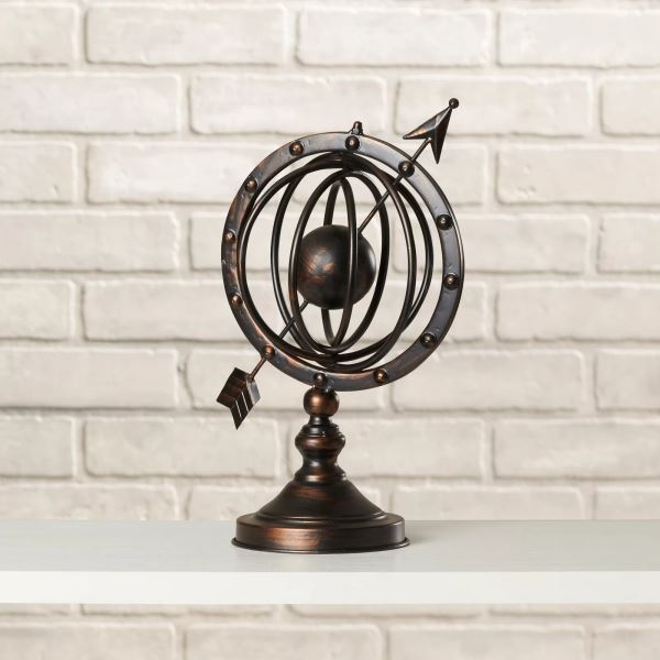 Claus Rustic Metal Armillary Sphere Stand Table Decoration