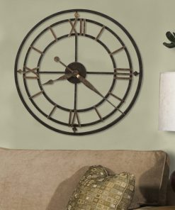 "Arcadia Designer Choice York Station 21.25"" Wall Clock"