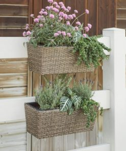 Honeycomb Westmore Resin Wicker Balcony Planter