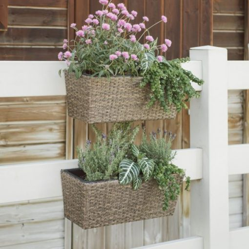 Honeycomb Westmore Resin Wicker Balcony Planter