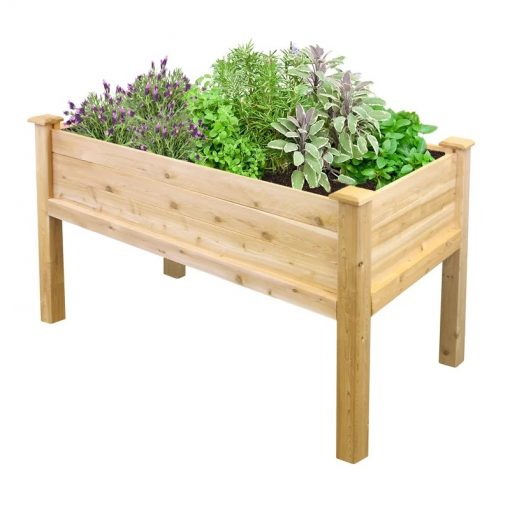 Mistral Wooden Elevated Garden Flower Bed Planter Box