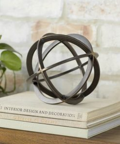 Jackie Contemporary Art Decor Metal Orb Dyson Sphere Decor Sculpture