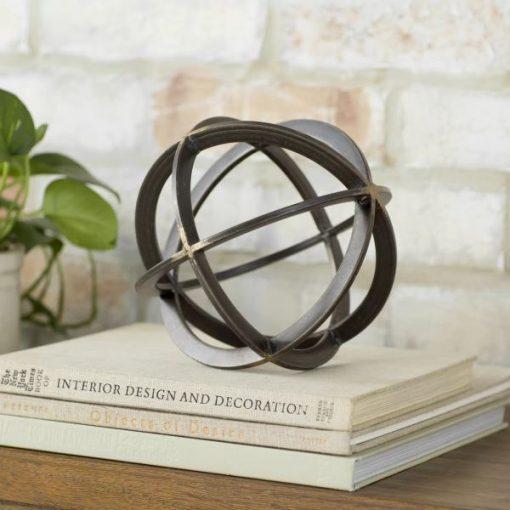 Jackie Contemporary Art Decor Metal Orb Dyson Sphere Decor Sculpture