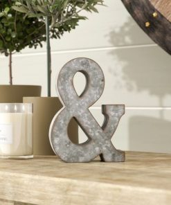Hinkleville Galvanized Metal 3D Wall Letters Farmhouse Decor