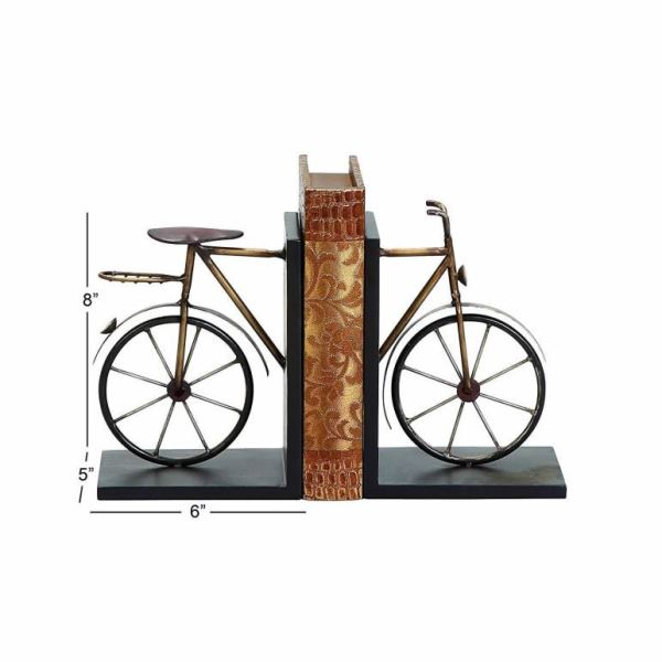 Mamacita Iron Metallic Antique Bicycle Bookend Office Living Family Decor