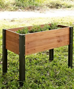 Natalia Elevated Outdoor Wood Raised Garden Bed Planter Box