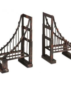 Nostalgia Set of 2 Suspension Bridge Black Metal Bookends