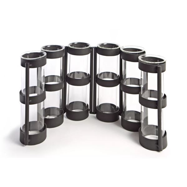 Olio Decorative Vase -Tube Hinged Vases on Rings Stands