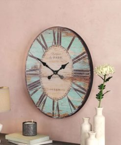 Vintage style Oversized Wooden Wall Clock