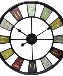 "Louise Oversized Willcox 24"" Kaleidoscope Wall Clock"
