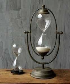 Penelop Decorative Metal And Glass Thirty Minute Hourglass