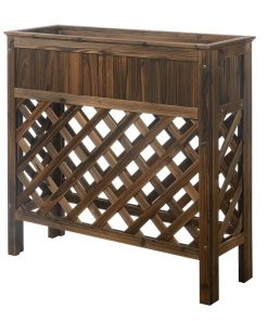 Rosado Wooden Planters & Potts Raised Patio Planter