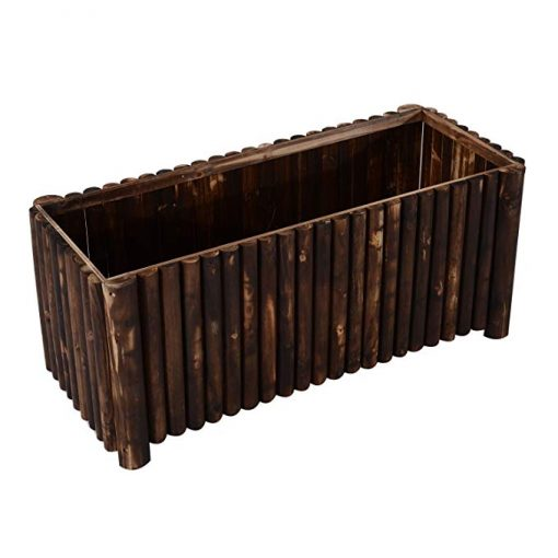 Tempeste Column Edged Wooden Raised Garden Bed Planter Box