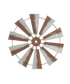Anika Metal Windmill Head Fan Antique Barn Farmhouse Wall Decor