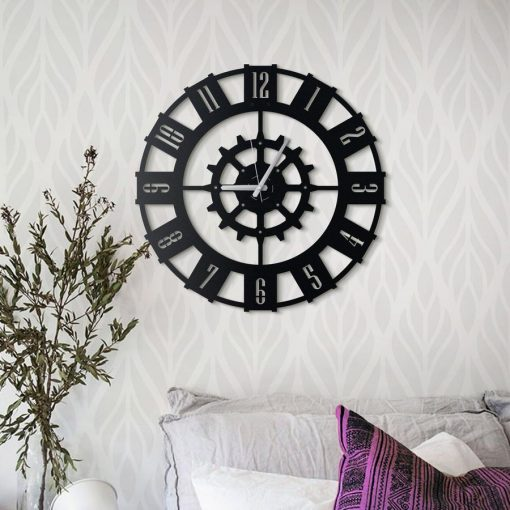 Alabora Wall Clock Matte black paint