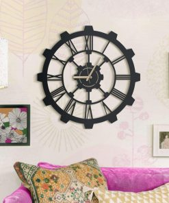 Hammer Matte black textured paint wall clocks