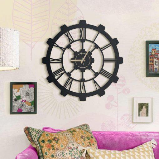Hammer Matte black textured paint wall clocks