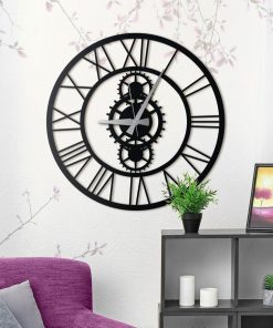 Gibson XL Wall Clock Matte black paint