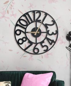 Hanlin wall clocks Matte black textured paint