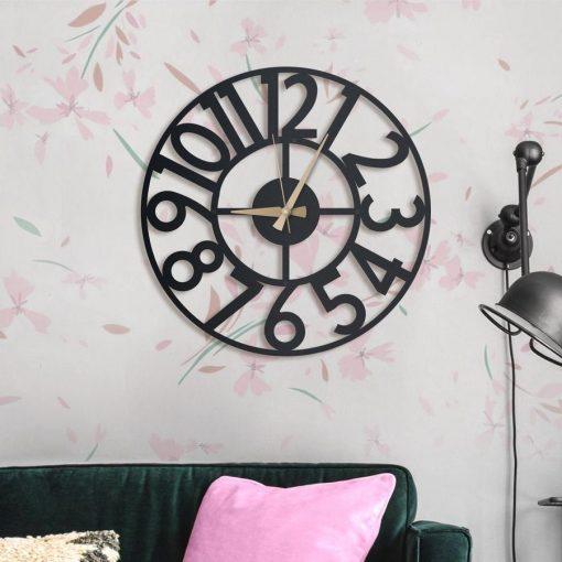 Hanlin wall clocks Matte black textured paint