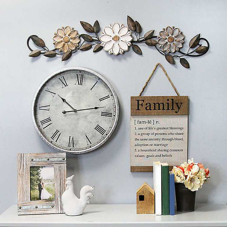 Keilani Wooden Family Definition Hanging Wall Plaque