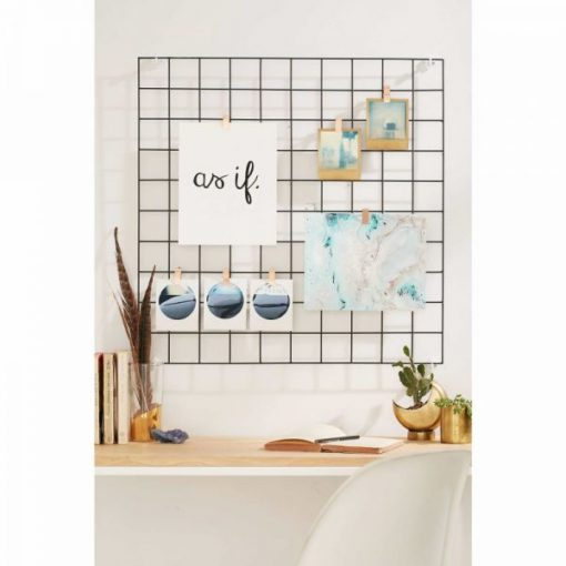 Kyla Metal Wire Mesh Square Grid Panel,Multifunction Display Stand Wall Decor