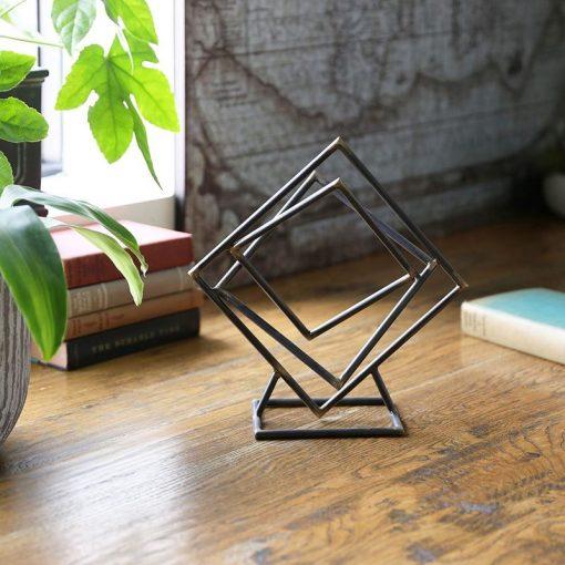 Melanie Tangled Squares Sculpture on Square Base