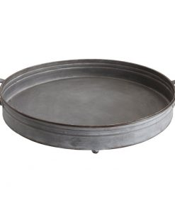 Nancy Round Decorative Iron Tray with Handles