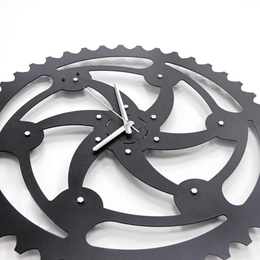 Vortex Wall clock Matte black textured paint
