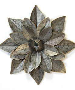 Zadie Layered-Petal Galvanized Flower Wall Art