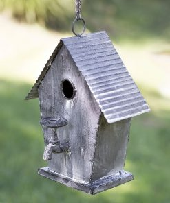farmhouse country metal cottage birdhouse