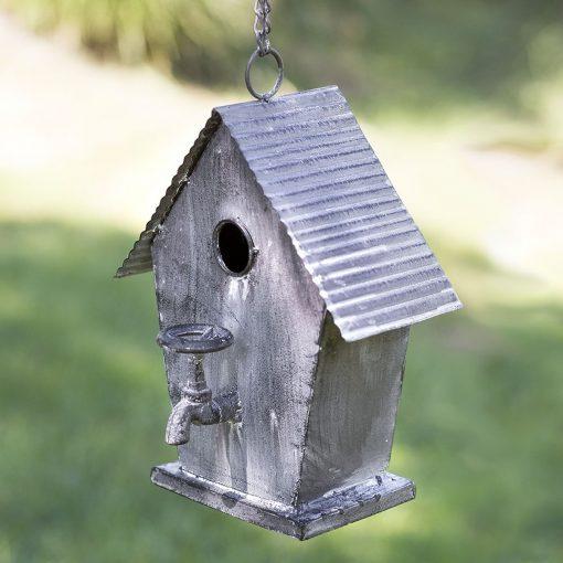 farmhouse country metal cottage birdhouse