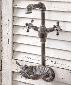 farmhouse faucet iron pipe wall mounted bird feeder