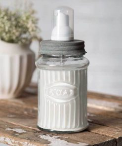 farmhouse hoosier foaming lotion and soap dispenser