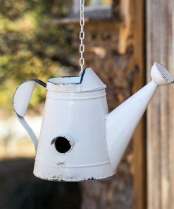 farmhouse metal hanging water can birdhouse