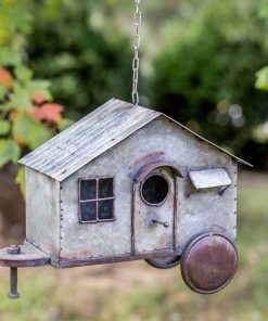 farmhouse metal tiny house birdhouse
