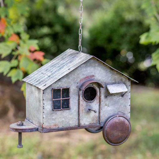 farmhouse metal tiny house birdhouse