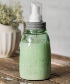 farmhouse midget pint mason jar foaming soap dispenser