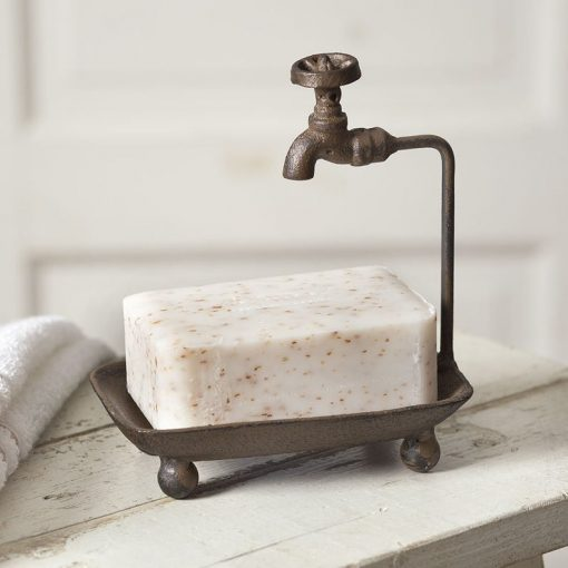 farmhouse wash tub cast iron soap dish