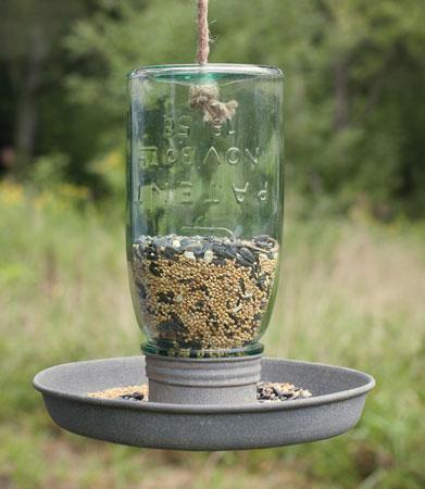hanging mason jar bird feeder