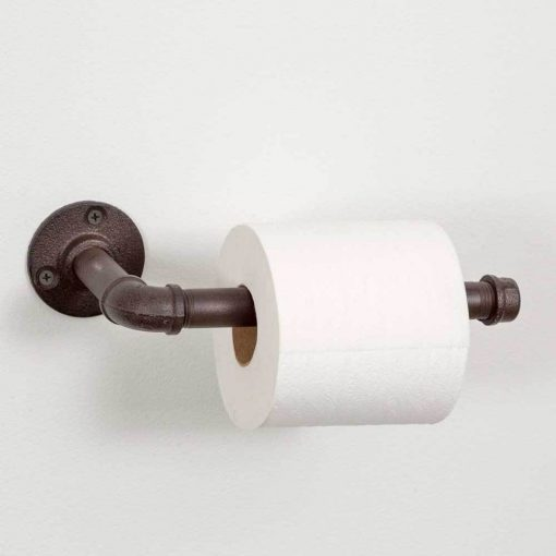 industrial iron toilet paper holder and hand towel rack