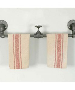industrial valve wall mount towel rack