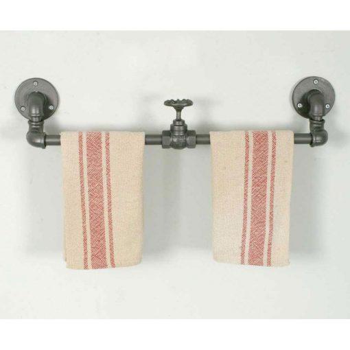 industrial valve wall mount towel rack