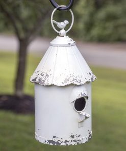 metal hanging cottage garden birdhouse