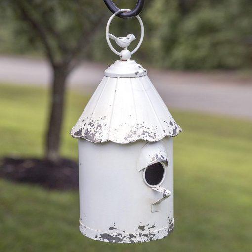 metal hanging cottage garden birdhouse