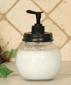 nut house soap dispenser with black pump