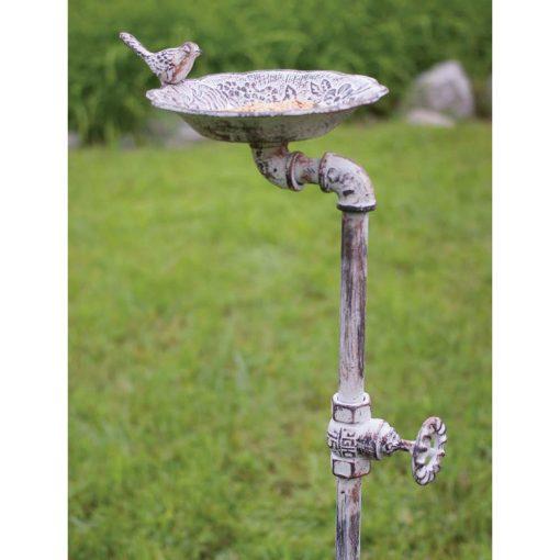 pipe garden stake bird feeder