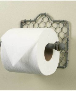 primitive chicken wire toilet paper holder